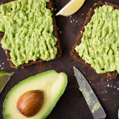 Open-faced Avocado Sandwiches with MEYER Lemon Olive Oil