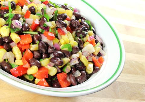 Jalapeno-Peach Black Bean Salad
