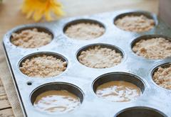 Vanilla Hazelnut Coffee Cake Muffins