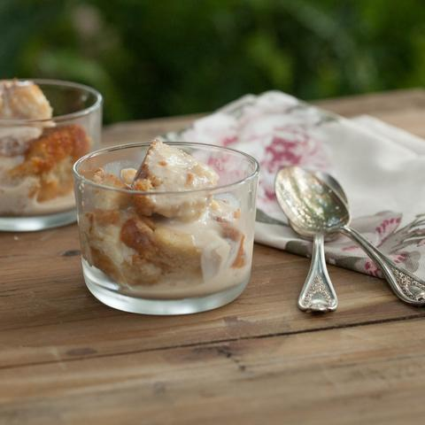 Bread Pudding with Chai Spiced Rum Sauce