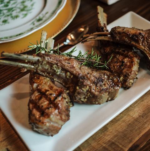 Rosemary Garlic Lamb Chops
