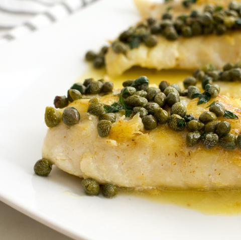 Pan Seared Tilefish with Butter & Capers