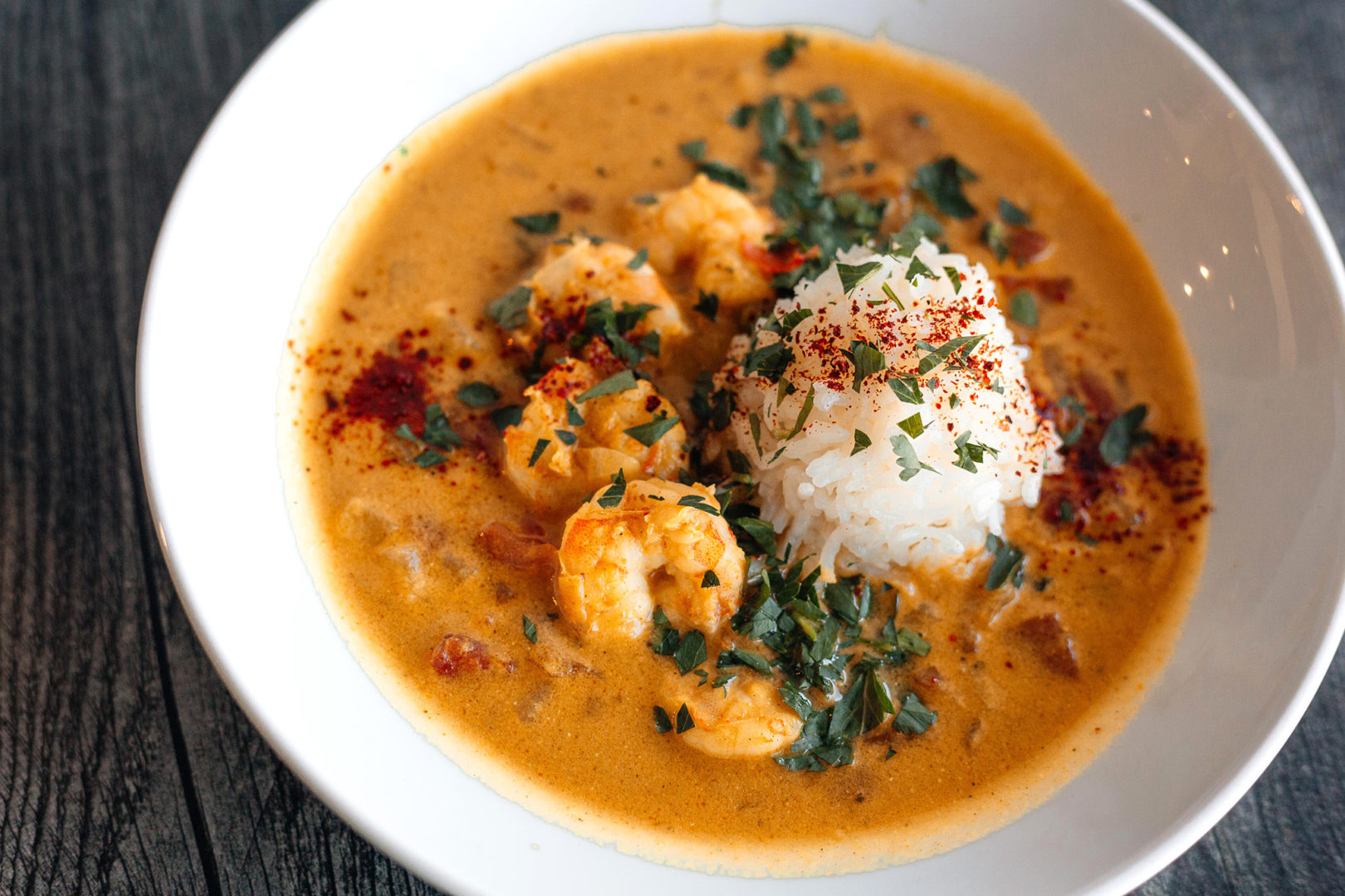roasted garlic shrimp madras curry