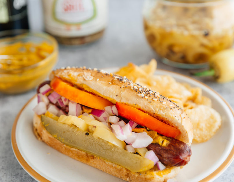 Chicago(ish) Dogs with Everything Buns