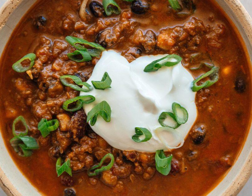 Instant Pot 3 Bean Pumpkin Chili