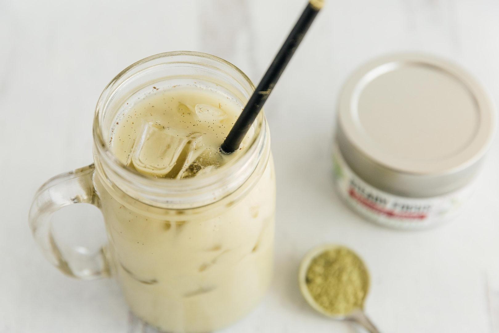Vanilla Maple Shaken Iced Matcha Latte