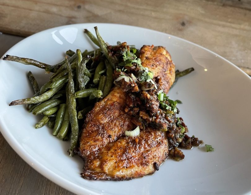 Sauteed louisiana drum with browned butter & Pecans