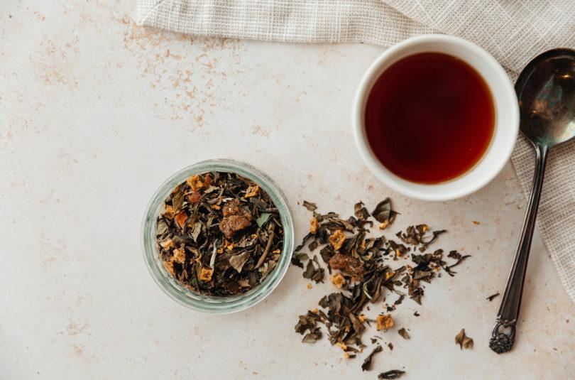 All About Almond Pear Custard white Tea