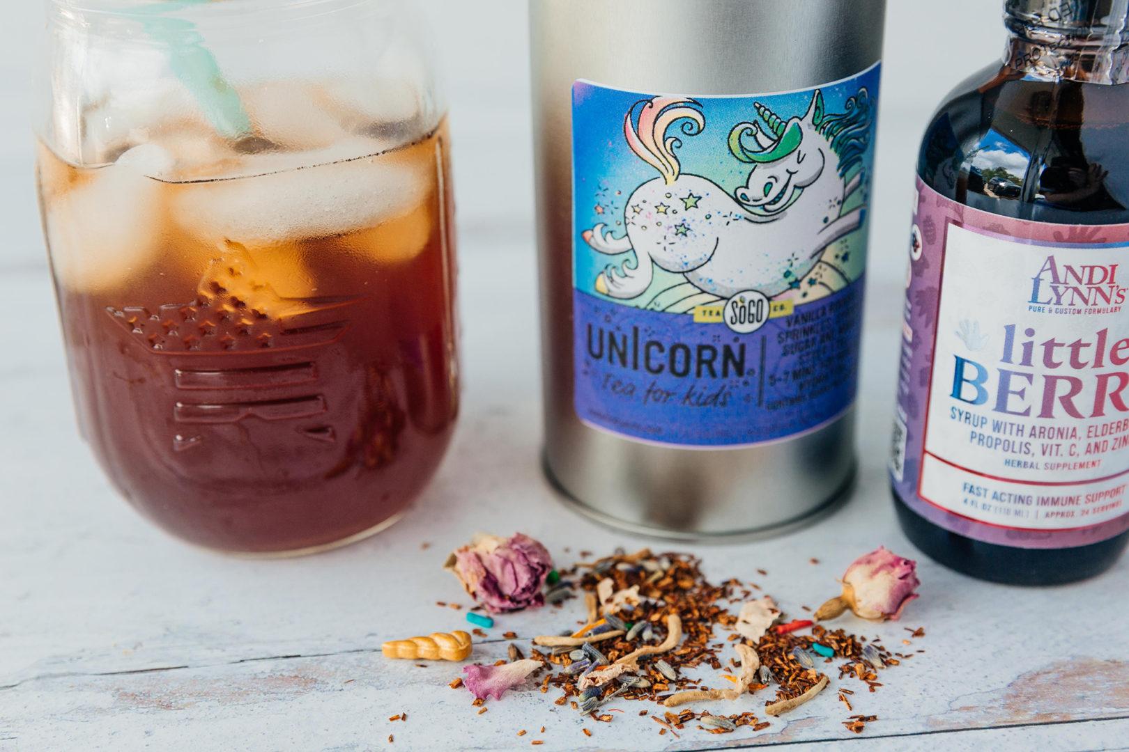 unicorn herbal tea rooibos sprinkles