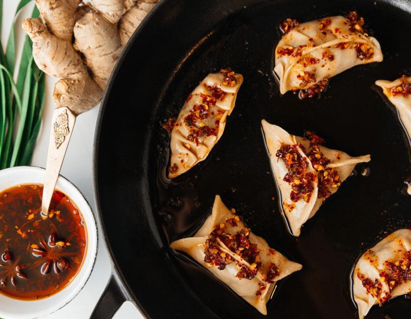 Spicy Beef potstickers