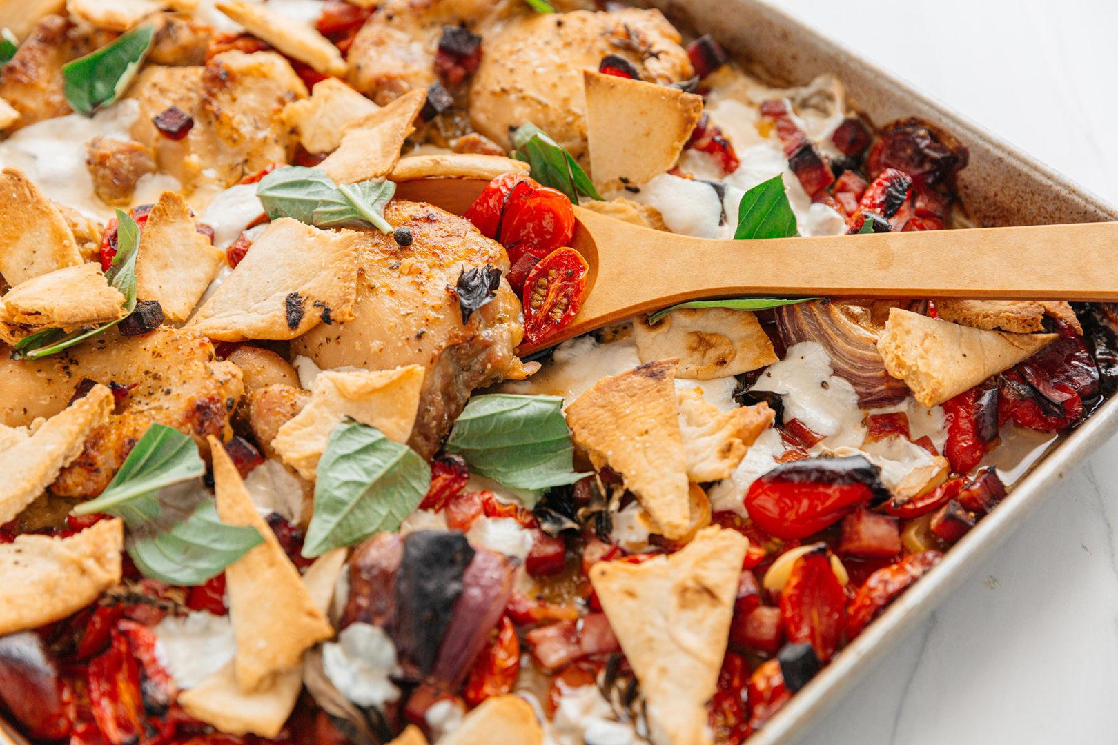 sheet pan pizza chicken