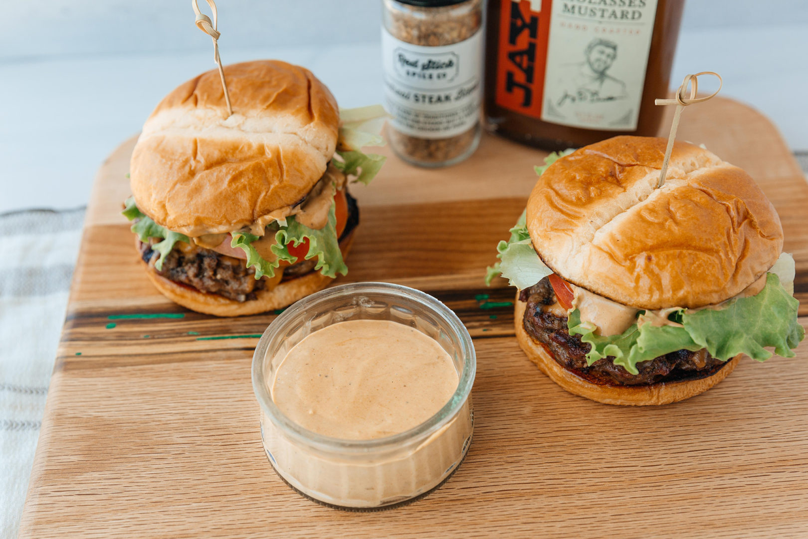 Molasses mustard steakhouse burger sauce