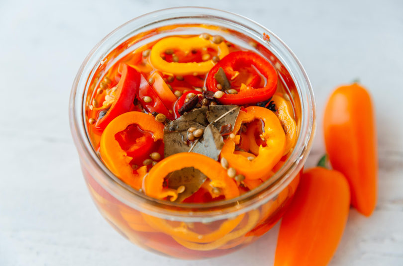 Quick Pickled Sweet Peppers