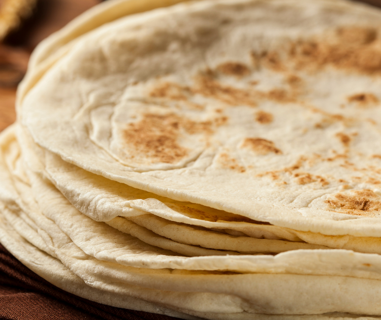 folded tik tok breakfast tortilla