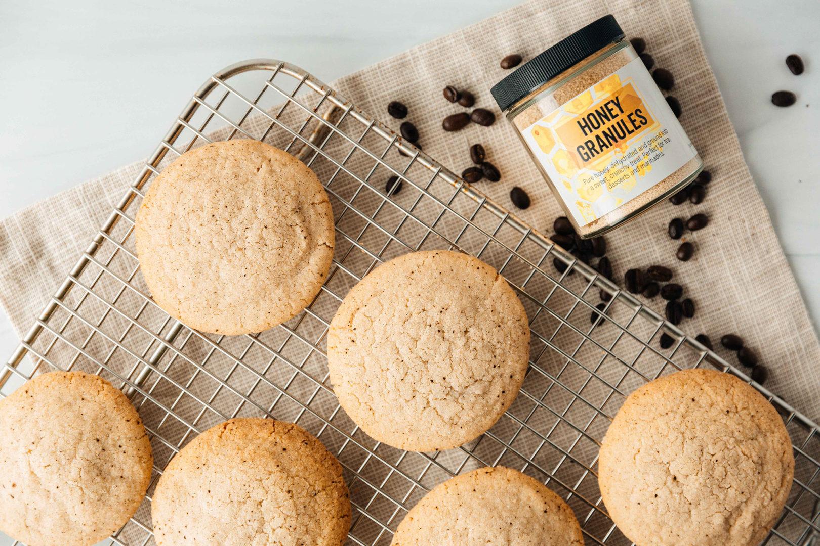 honey espresso sugar cookies